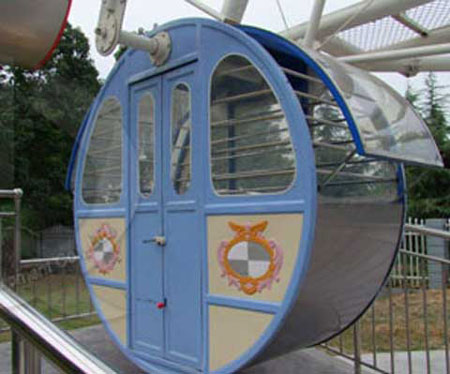 Ferris Wheel Seat In The Cabin For Amusement Ride