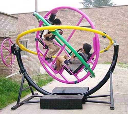 amusement park face to face gyro rides