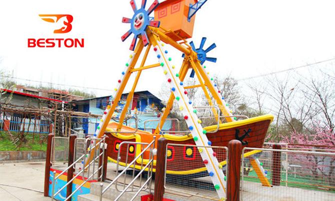 Beston small pirate ship fairground ride for kids