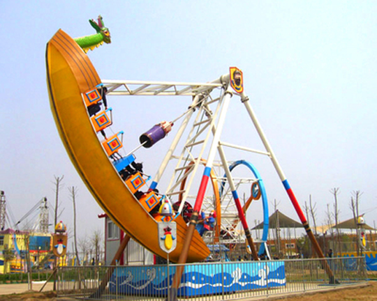 Pirate bota amusement ride for fairground