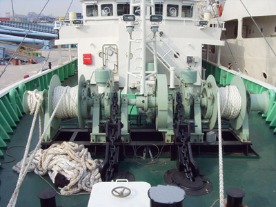 Ellsen windlass gypsy with double wheel for anchoring