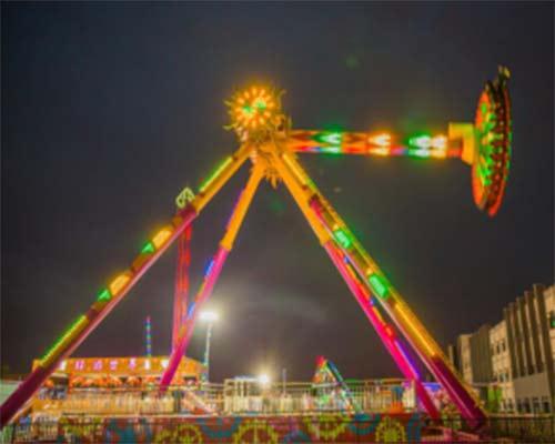popular pendulum ride in amusement park