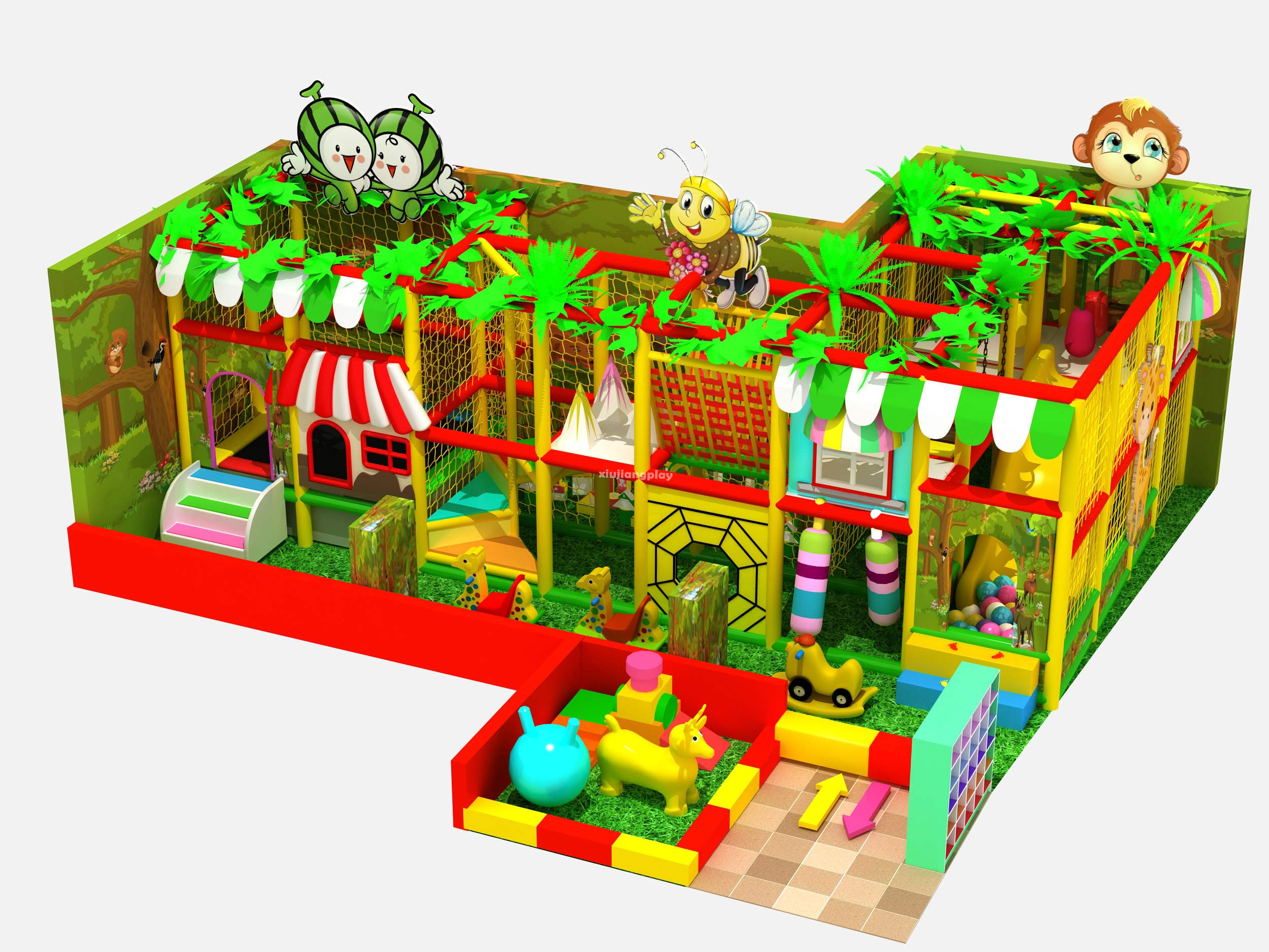 Kiddie Indoor Playground Equipment for Sale