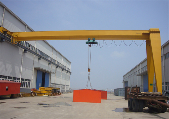 How to 20 ton single girder gantry crane